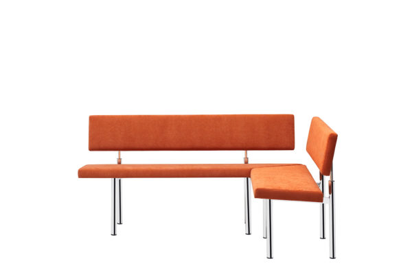 09: Der moderne Eckbank in Stoff orange