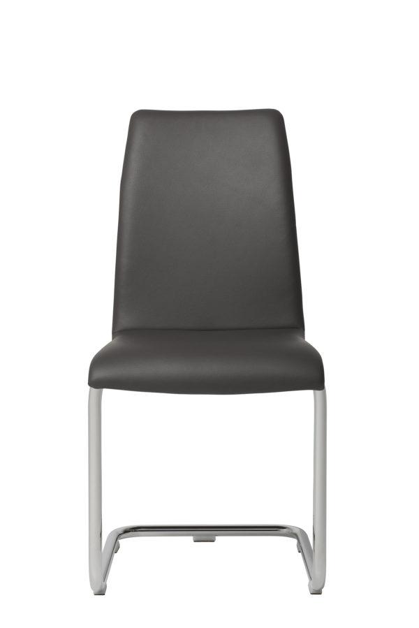 12: Gleiche Sitzschale wie beim Holzbeinstuhl mit Freischwingergestell in Stahl glanz oder auch matt