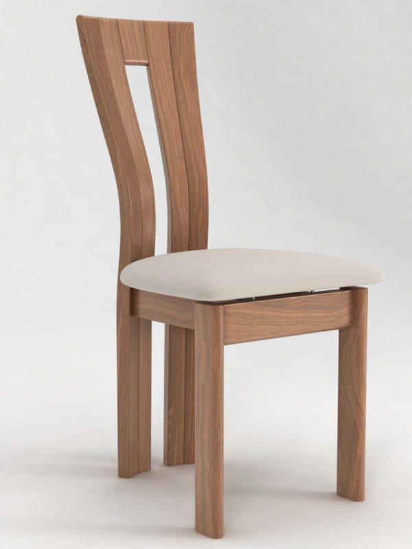 10: Gebogene Rückenlehne in Holz, eine Handwerksleistung, die sich sehen lässt