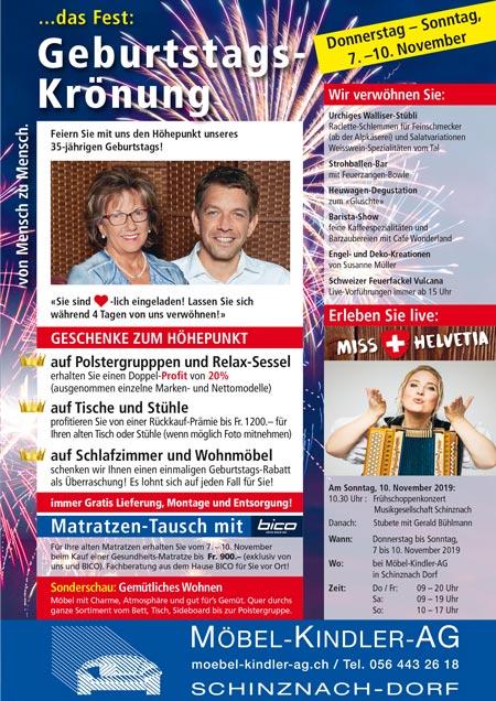 das Fest ... Geburtstags-Krönung bei Möbel Kindler AG