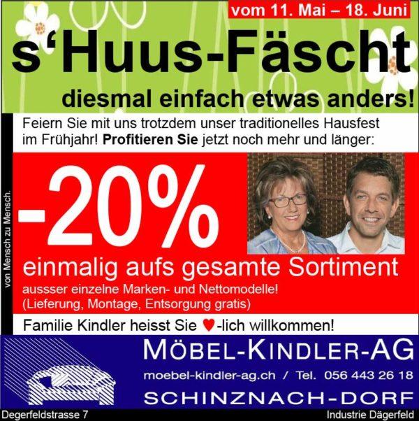 s'Huus-Fäscht von Möbel-Kindler-AG